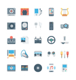 Music and Multimedia Icons 3 vector image