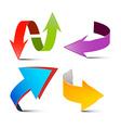 Arrows Set Colorful 3D Arrows Logo Arrow Symbols vector image vector image