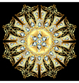 Mandala brooch jewelry design element vector image vector image