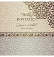 Baroque wedding invitation patina vector image