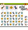 counting game cartoon vector image vector image