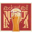 beer Rock and roll vector image vector image