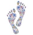 floral human footprints vector image