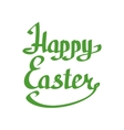 Happy Easter lettering handmade calligraphy vector image