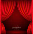 Red theater curtain background vector image vector image