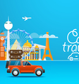 Travel Vacation design template Car travel vector image vector image
