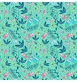 Colorful seamless pattern with forest elements vector image
