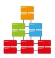 company position organization template vector image