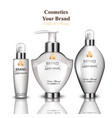cream and lotion cosmetics with milk and honey vector image