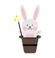 cute rabbit or bunny icon image vector image
