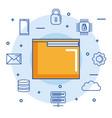 folder file document digital internet secure email vector image