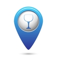 Map pointer with goblet icon vector image