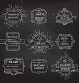 set of linear chalk badges labels logo templates vector image