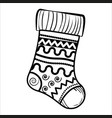 sketch christmas sock vector image