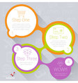 Step by step template for infographics vector image
