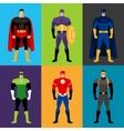 Superhero costumes vector image