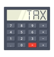 Tax Calculator vector image