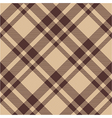 Beige brown diagonal check plaid seamless pattern vector image