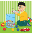 Kid with Toys vector image vector image