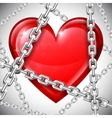 Heart and chains vector image vector image