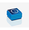 3d glossy clock icon vector image