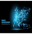 neon light guitar vector image