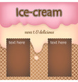 cute pink and orange ice cream with cookies and vector image