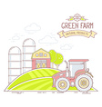 Agribusiness of colorful green farm life wi vector image