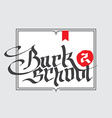 Back to school background Calligraphy or Lettering vector image