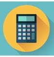 calculator icon with long shadow vector image