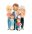 cute people family members together happiness vector image