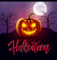 halloween background pumpkin greeting card vector image