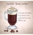 Irish cream coffee vector image