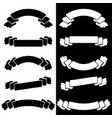 set the white and black insulated flat ribbon vector image