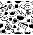 sweet pattern vector image