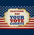usa election day symbol vector image