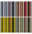 Vintage stripes set vector image