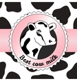 Cow background vector image vector image