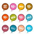 Business Stickers - Labels Set with New Title vector image vector image