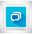 Icon of message for web and mobile applications vector image