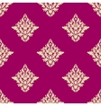 Delicate beige floral seamless pattern on hot pink vector image vector image