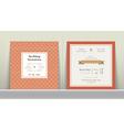 Art Deco Wedding Invitation Card vector image