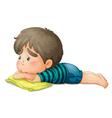 Sad Little Boy vector image