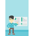 Businessman making business presentation vector image vector image