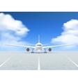 Airplane Runway Poster vector image