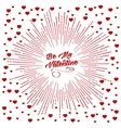 Be my Valentine starburst background vector image
