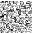 Black and white circles seamless pattern vector image