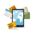 buy online travel tickets vector image