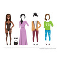 clothing sets for black african american female vector image