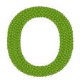 Four Leaf Clover of Alphabet Letter O vector image